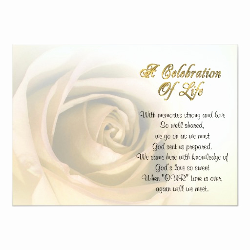 Celebration Of Life Invitation Ideas Elegant Celebration Of Life Invitation