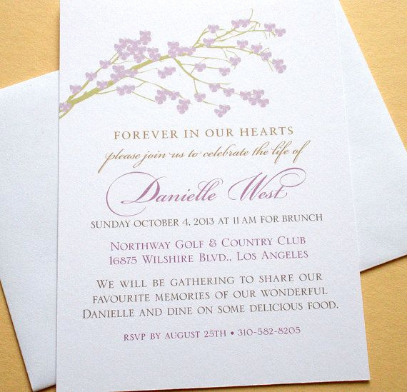 Celebration Of Life Invitation Ideas Elegant Pinterest • the World's Catalog Of Ideas