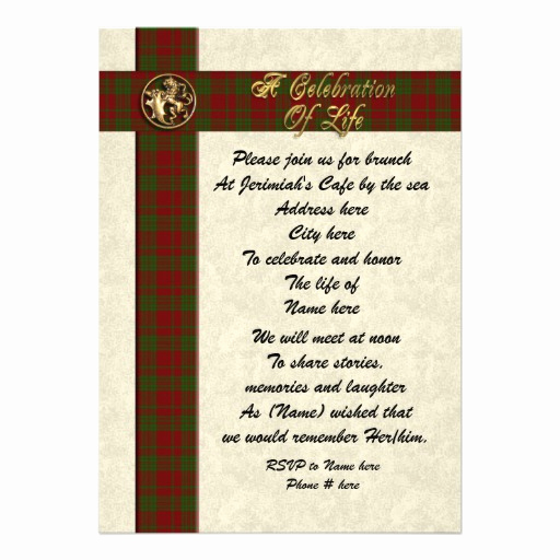 "Celebration Of Life Invitation Ideas Fresh Celebration Of Life Memorial Invitation for Man 5"" X 7"