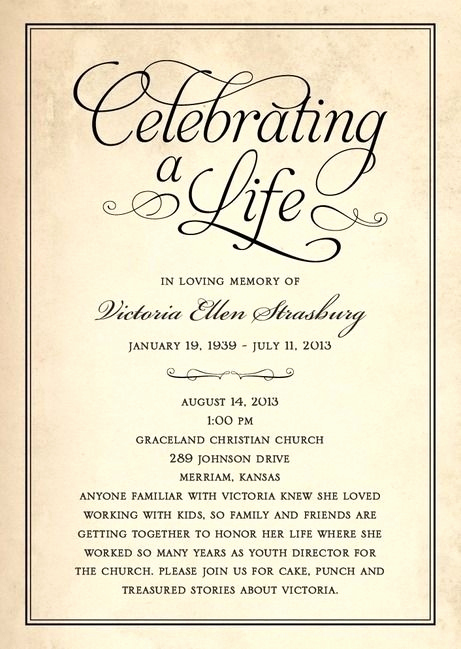 Celebration Of Life Invitation Ideas Inspirational Celebration Of Life Invitation Ideas Cobypic