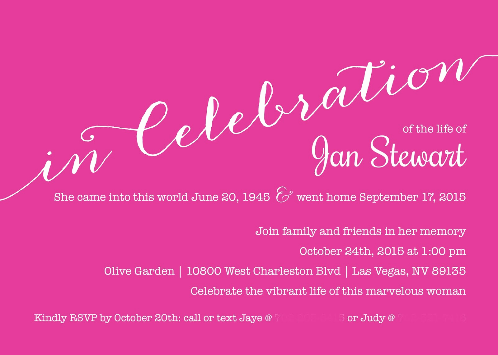 Celebration Of Life Invitation Ideas New 1st Impressions Invitations Celebrating A Cherished Life
