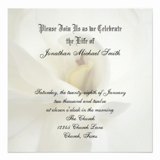 "Celebration Of Life Invitation Ideas New Celebration Of Life Invitation 5 25"" Square Invitation"