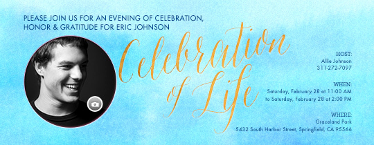 Celebration Of Life Invitation Ideas Unique Free Funeral and Memorial Line Invitations