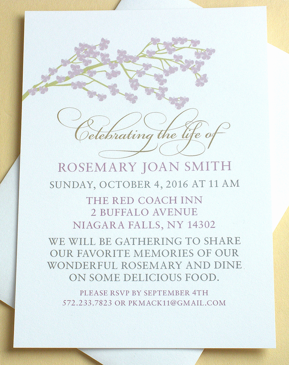 Celebration Of Life Invitation Inspirational Celebration Of Life Invitations with A Branch Of by