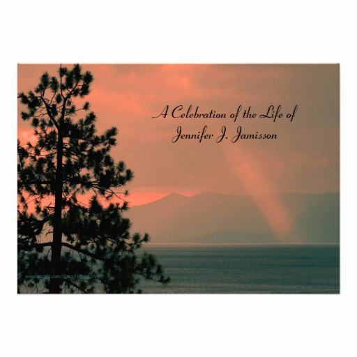 Celebration Of Life Invitation Luxury Celebration Of Life Invitation Light Beam On Lake Custom