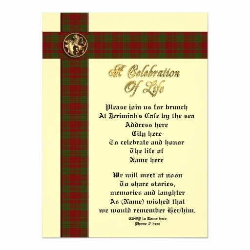 Celebration Of Life Invitation Luxury Celebration Of Life Memorial Invitation for Man