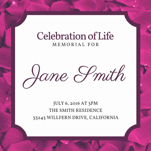Celebration Of Life Invitation Template Elegant Customize 40 Funeral Invitation Templates Online Canva