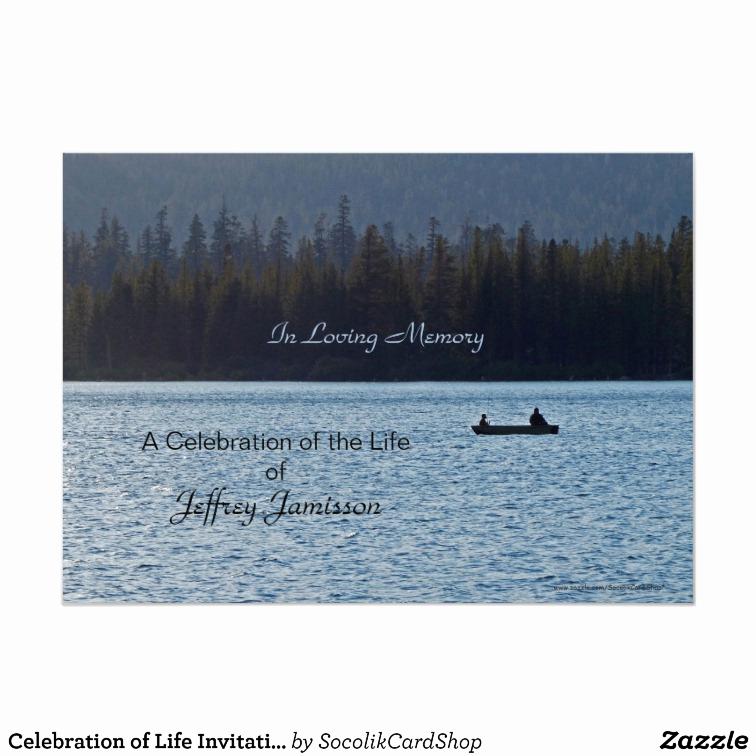 Celebration Of Life Invitation Template Fresh Celebration Of Life Invitation Fishermen Card