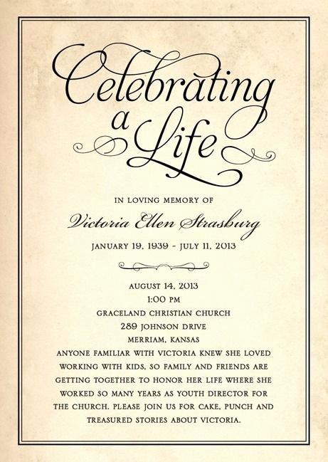 Celebration Of Life Invitation Template Inspirational 25 Best Memorial Ideas On Pinterest