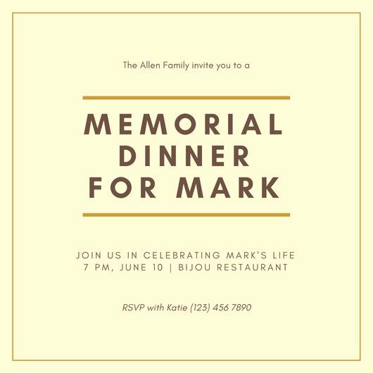 Celebration Of Life Invitation Template Lovely Elegant Celebration Of Life Invitation Templates by Canva