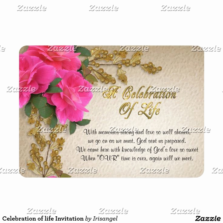 Celebration Of Life Invitation Wording Awesome 17 Best Images About Celebration Of Life Invitations On