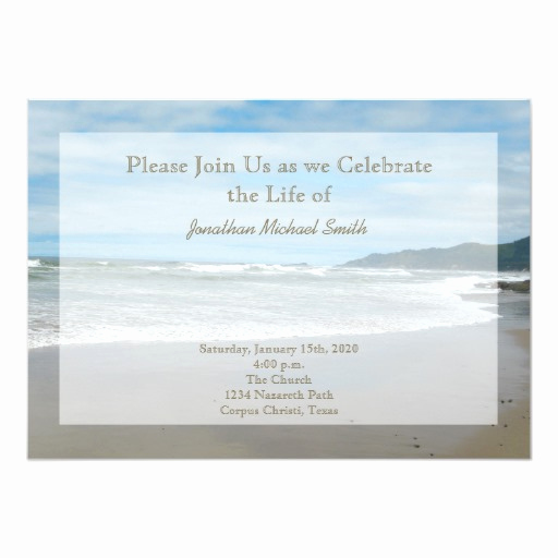 Celebration Of Life Invitation Wording Awesome Celebration Of Life Invitation
