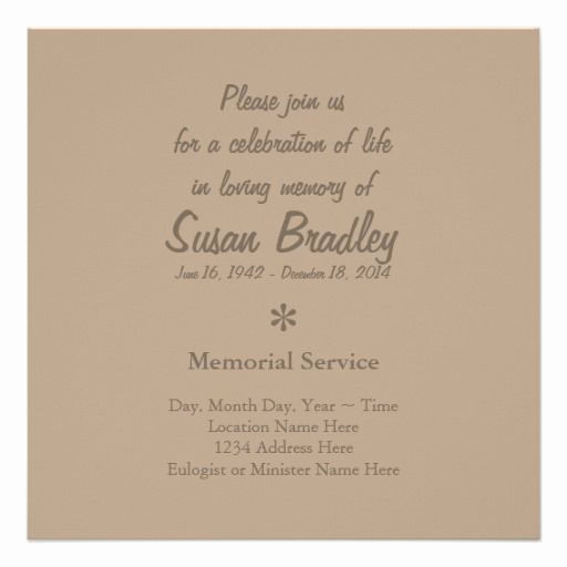 Celebration Of Life Invitation Wording Beautiful Elegant & Modern Celebration Of Life Invitation