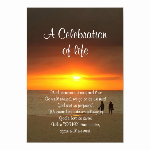 Celebration Of Life Invitation Wording Best Of Celebration Of Life Invitation Sunset