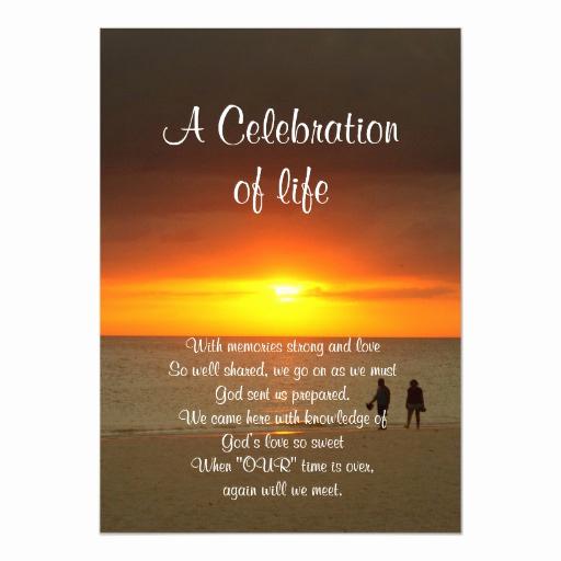Celebration Of Life Invitation Wording Best Of Celebration Of Life Invitation Sunset
