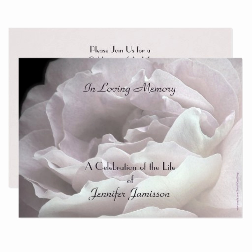 Celebration Of Life Invitation Wording Elegant Celebration Of Life Invitation Pale Pink Rose