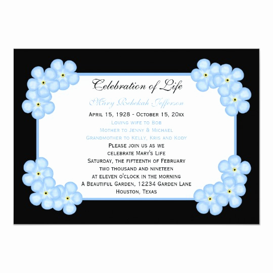 Celebration Of Life Invitation Wording Fresh Celebration Life Invitations