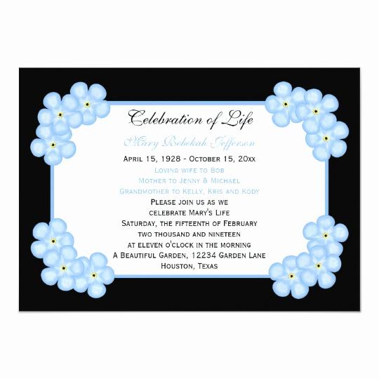 Celebration Of Life Invitation Wording Fresh Celebration Life Invitations