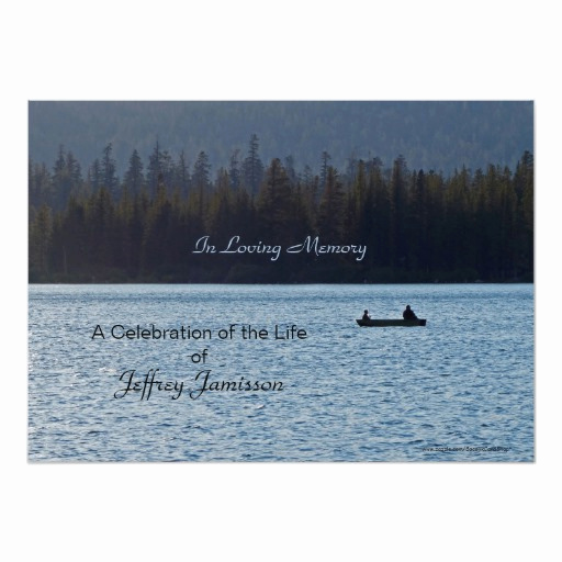 Celebration Of Life Invitation Wording Inspirational Celebration Of Life Invitation Fishermen Card