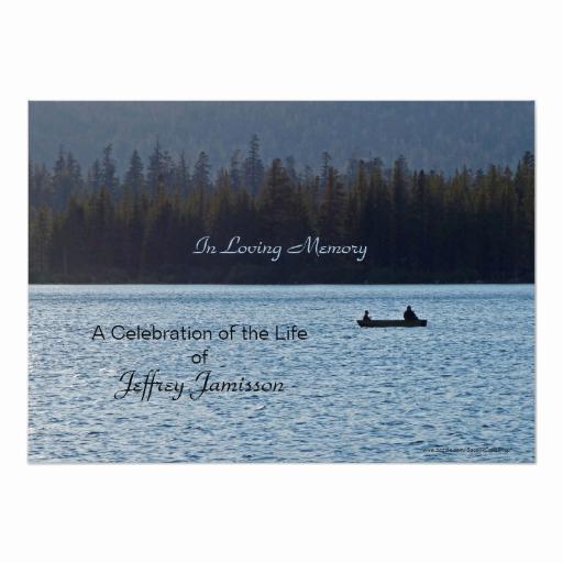 Celebration Of Life Invitation Wording Inspirational Celebration Of Life Invitation Fishermen Card