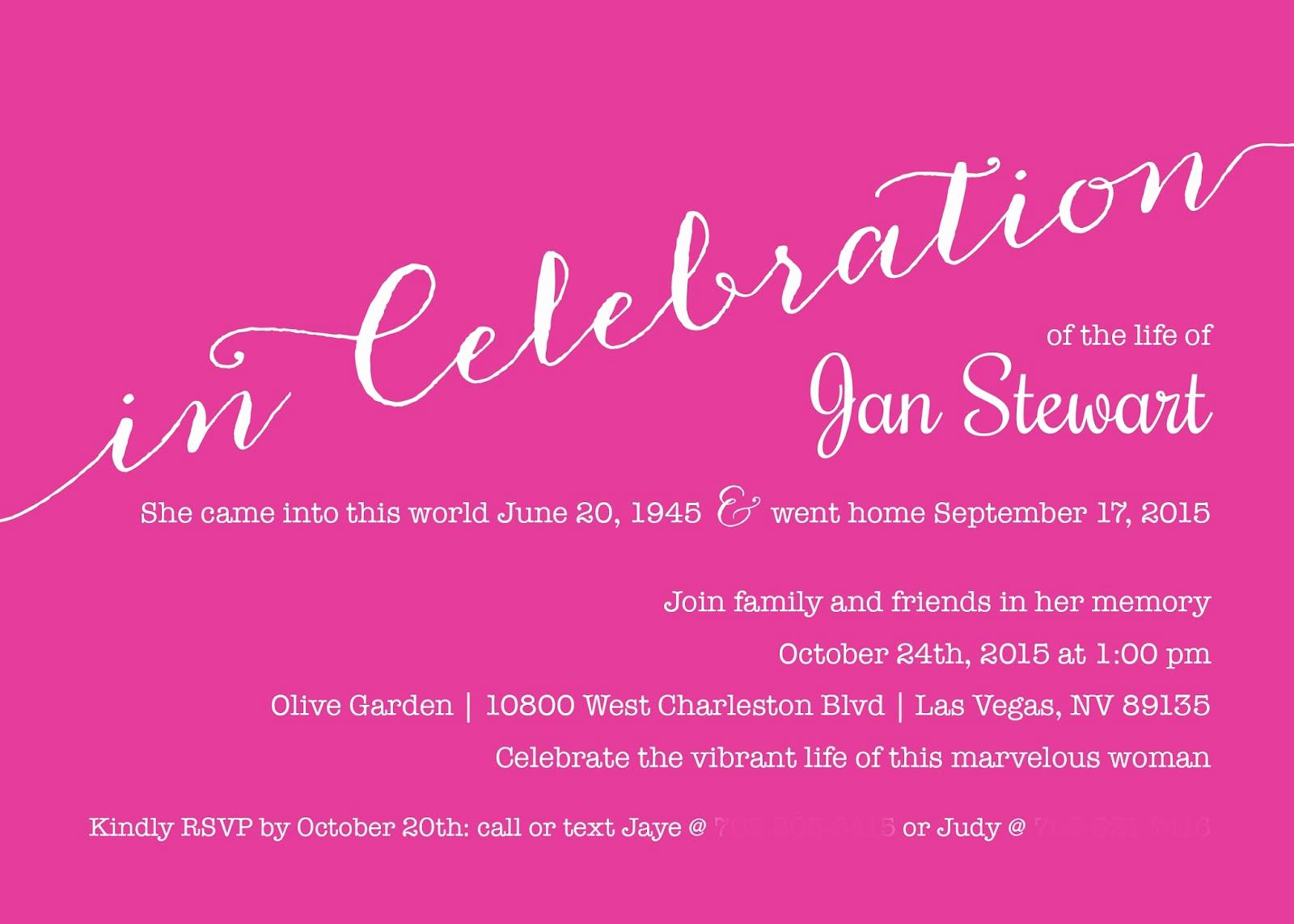 Celebration Of Life Invitation Wording Luxury 1st Impressions Invitations Celebrating A Cherished Life
