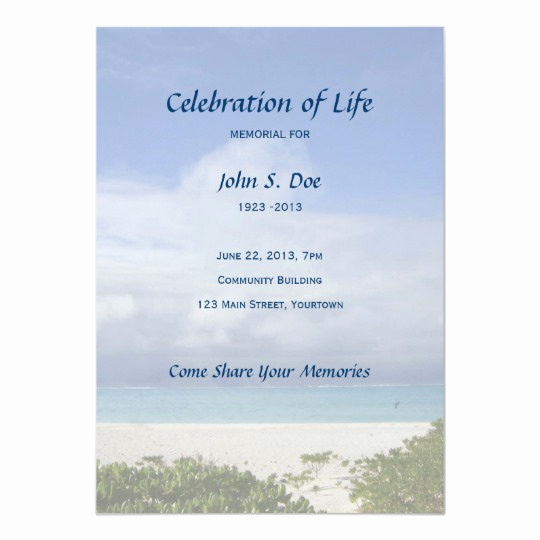 Celebration Of Life Invitation Wording New Celebration Of Life Invitation