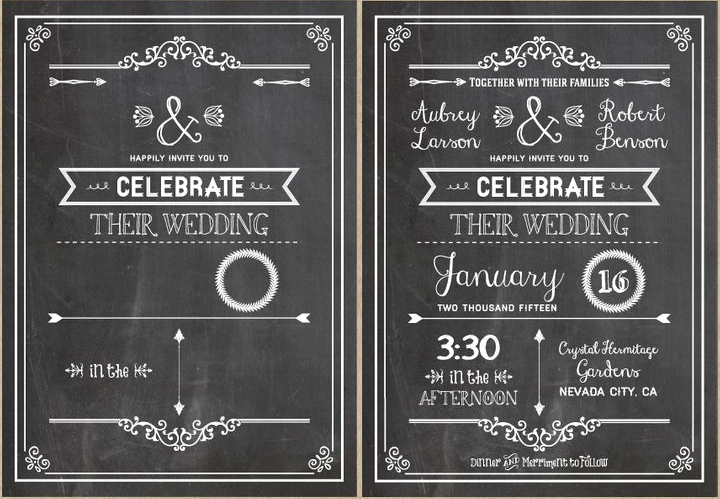 Chalkboard Invitation Template Free Awesome Diy Wedding Invitations Our Favorite Free Templates