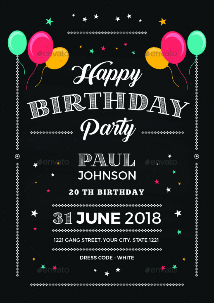 Chalkboard Invitation Template Free Best Of 14 Creative Chalkboard Birthday Invitation Templates