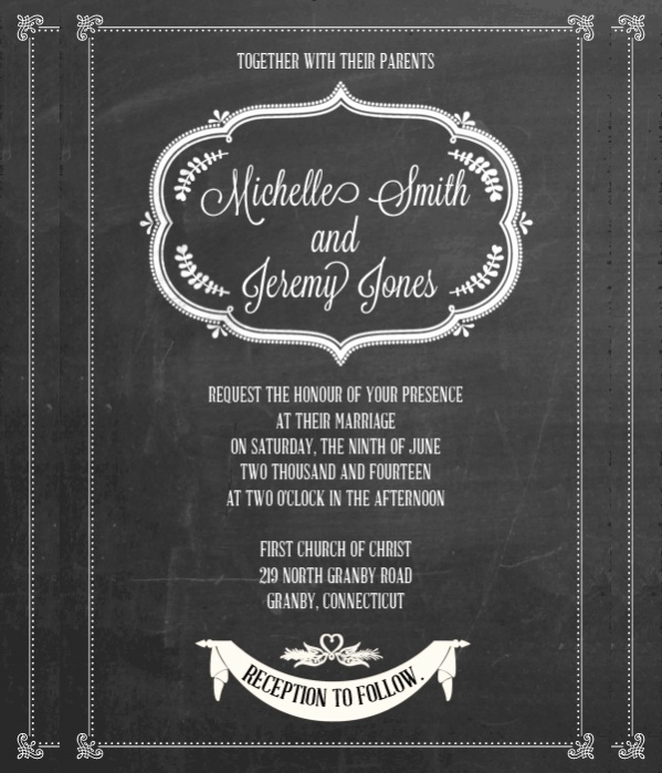 Chalkboard Invitation Template Free Best Of 35 Free Elegant Wedding Invitations Psd Word Ai Eps