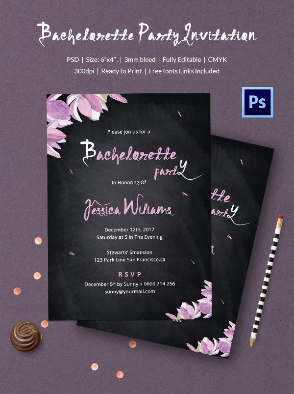 Chalkboard Invitation Template Free Fresh Chalkboard Invitation Template 45 Free Jpg Psd