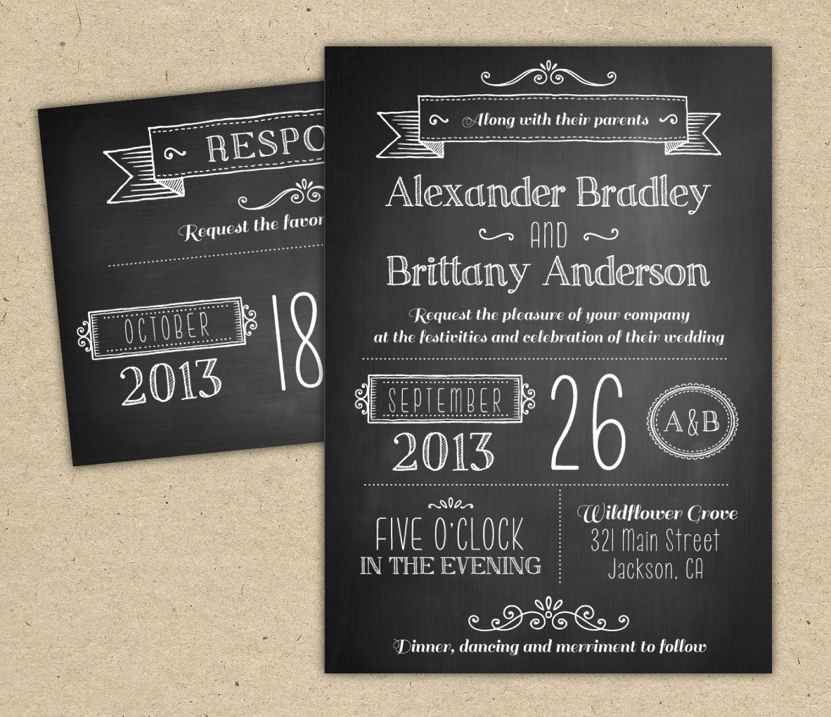 Chalkboard Invitation Template Free Luxury Chalkboard Wedding Invitation Modern Invitation Template Diy
