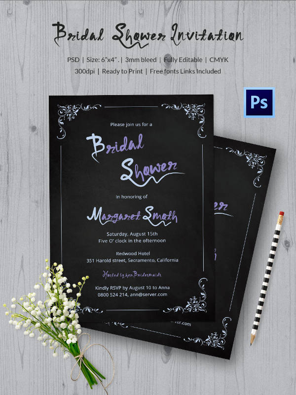 Chalkboard Invitation Template Free New Chalkboard Invitation Template 45 Free Jpg Psd