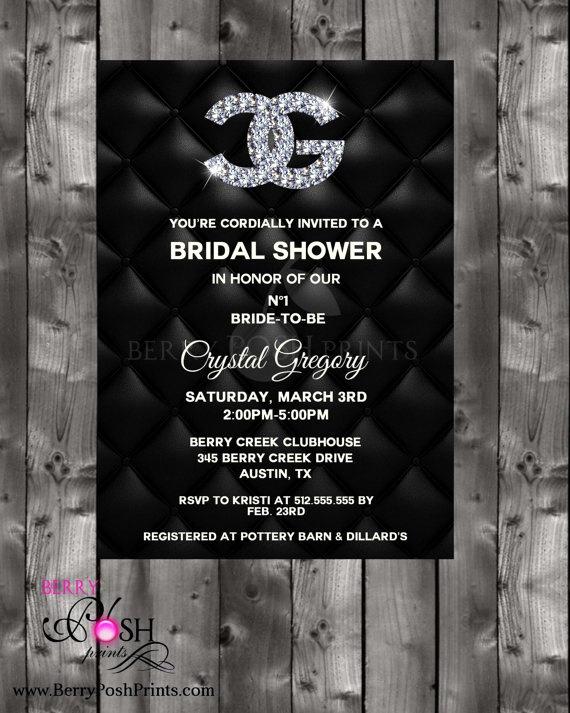 Chanel Bridal Shower Invitation Awesome 37 Best Chanel Paris Fashion Designer Runway Model