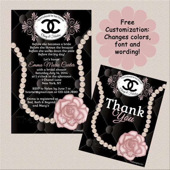 Chanel Bridal Shower Invitation Best Of Best 20 Coco Chanel Cake Ideas On Pinterest