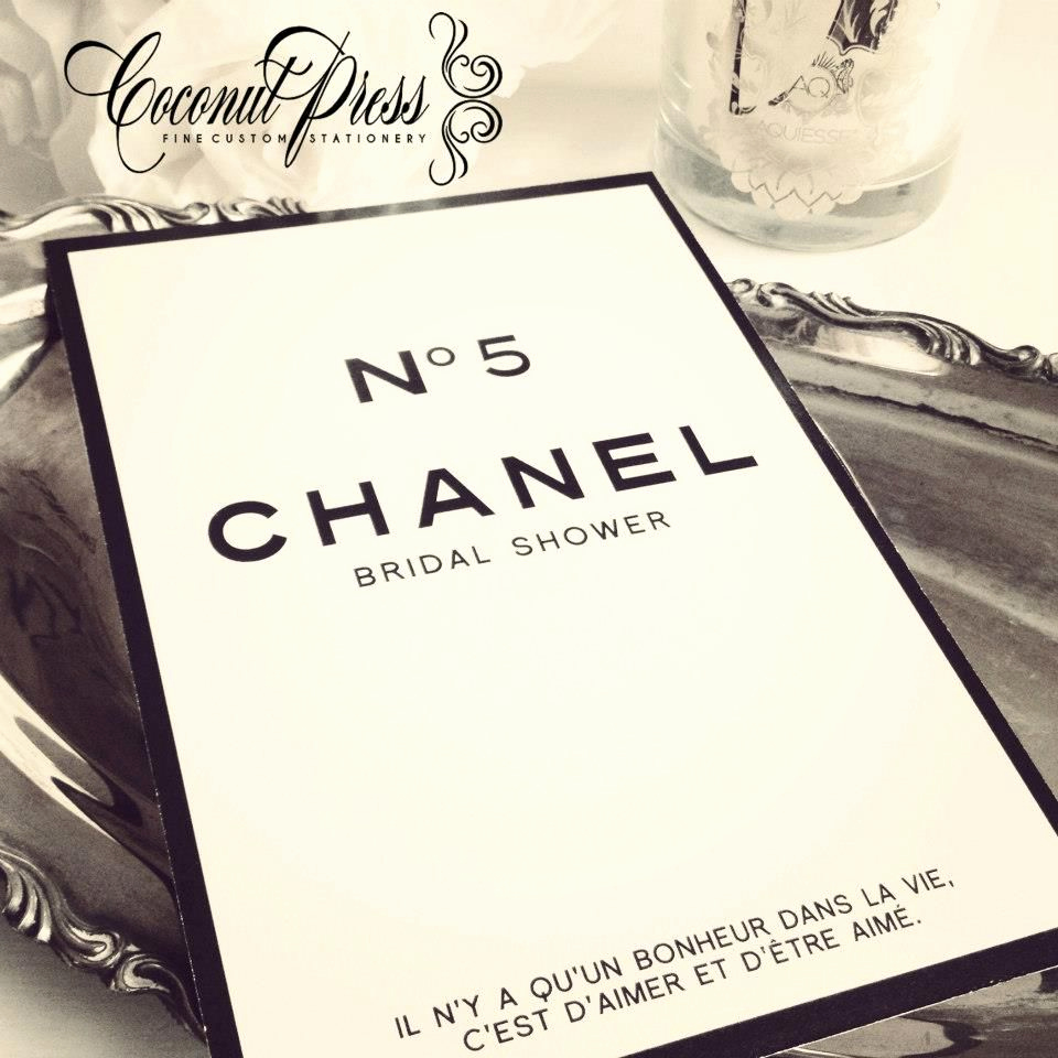 Chanel Bridal Shower Invitation Best Of Chanel Invitation Suite Coconut Press