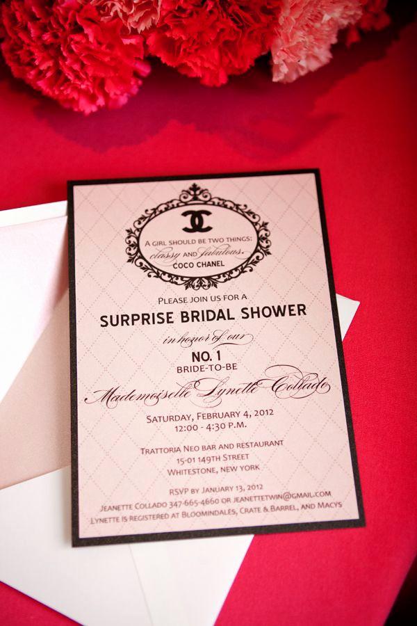 Chanel Bridal Shower Invitation Fresh 25 Best Ideas About Chanel Bridal Shower On Pinterest
