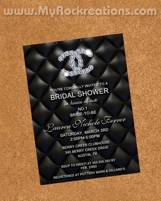 Chanel Bridal Shower Invitation Fresh Chanel Bridal Shower Bridal Shower and Chanel On Pinterest