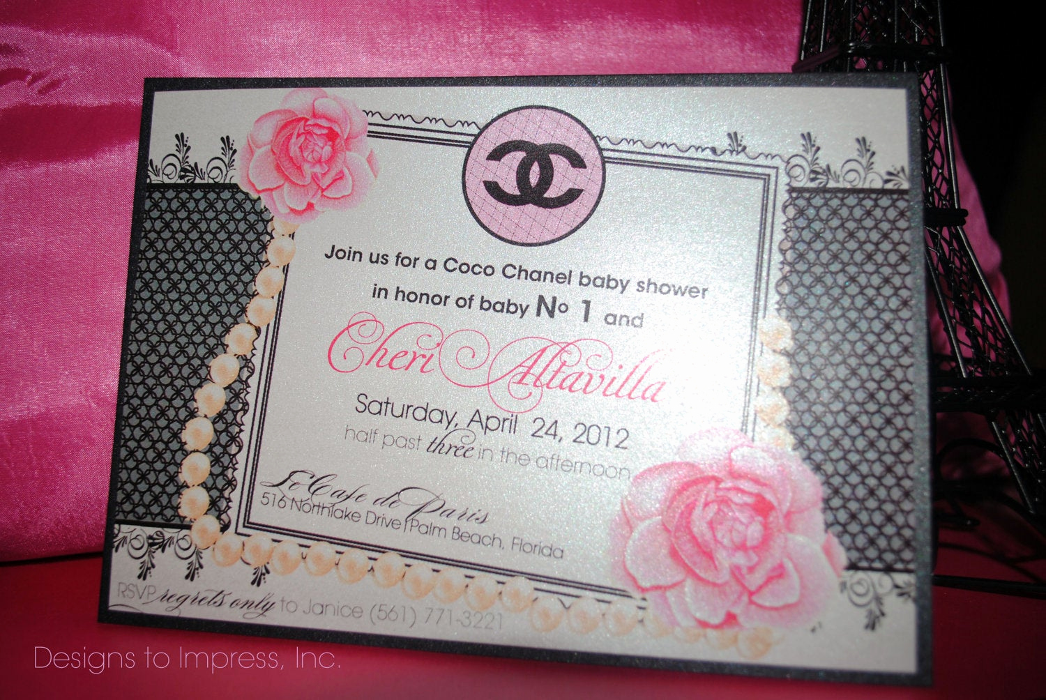 Chanel Bridal Shower Invitation Fresh Reserved Listing for Bleamtiff 45 Coco Chanel Baby Shower