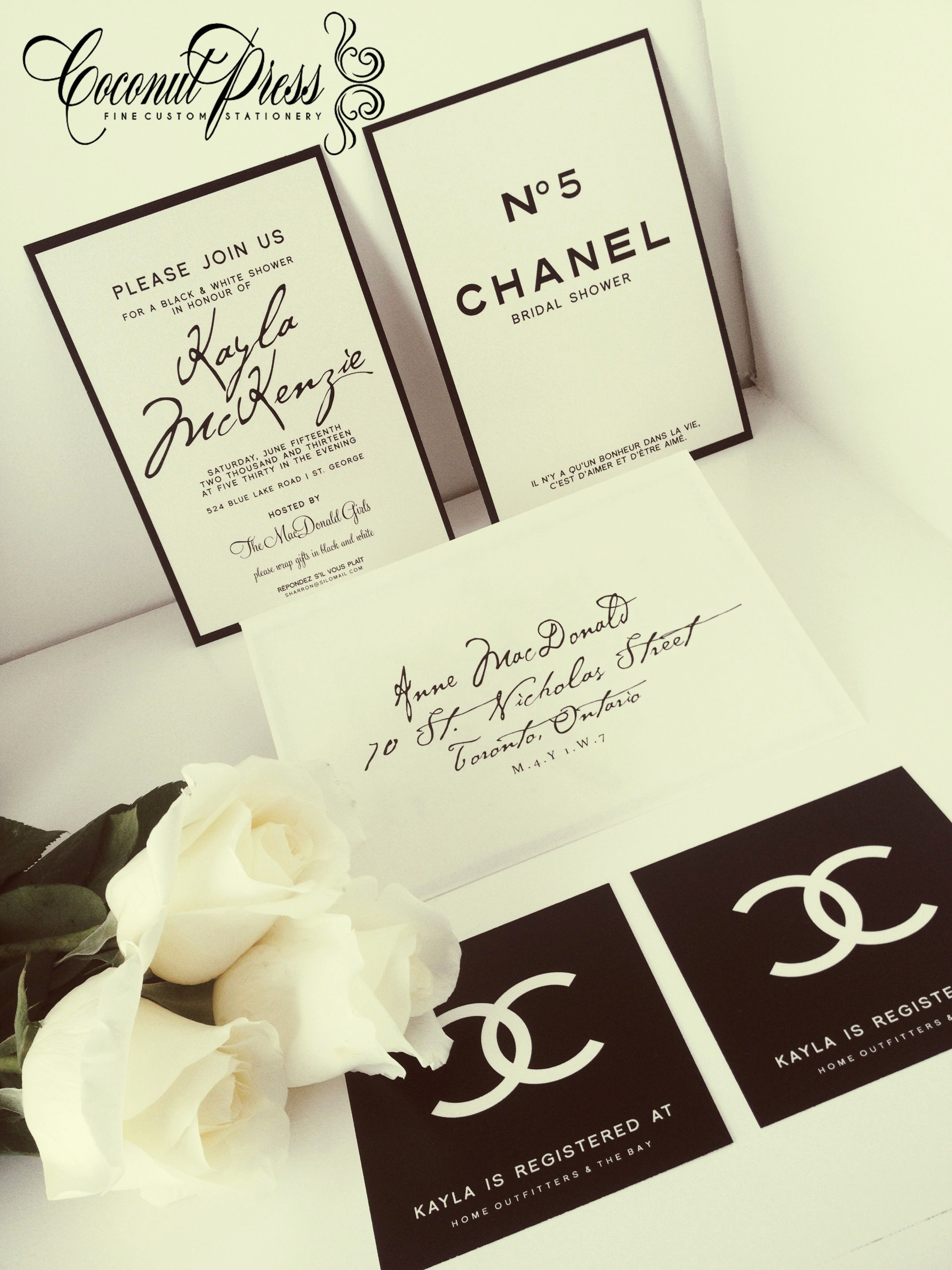 Chanel Bridal Shower Invitation Lovely Coco Chanel Inspired Black & White Shower Invitations