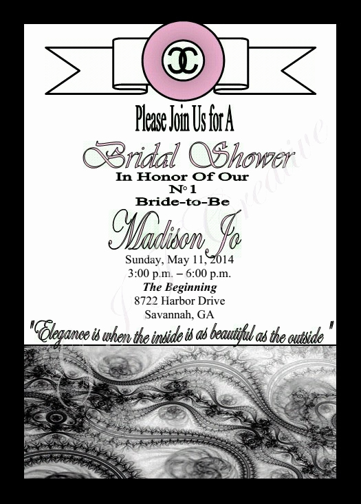 Chanel Bridal Shower Invitation Luxury G I T Creative event Planning Llc Chanel Inspired