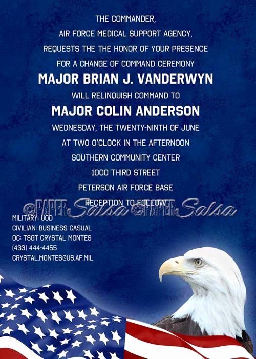 Change Of Command Invitation Best Of Patriot Eagle Change Of Mand Naptime Productions