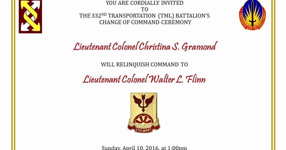Change Of Command Invitation Elegant Eugene Flinn south Dade Updates S Of the Day