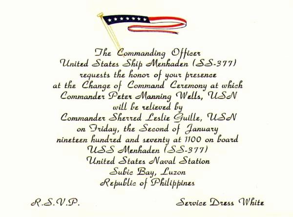 Change Of Command Invitation Elegant