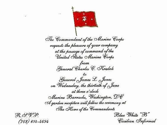 Change Of Command Invitation Fresh Change Of Mand Invite