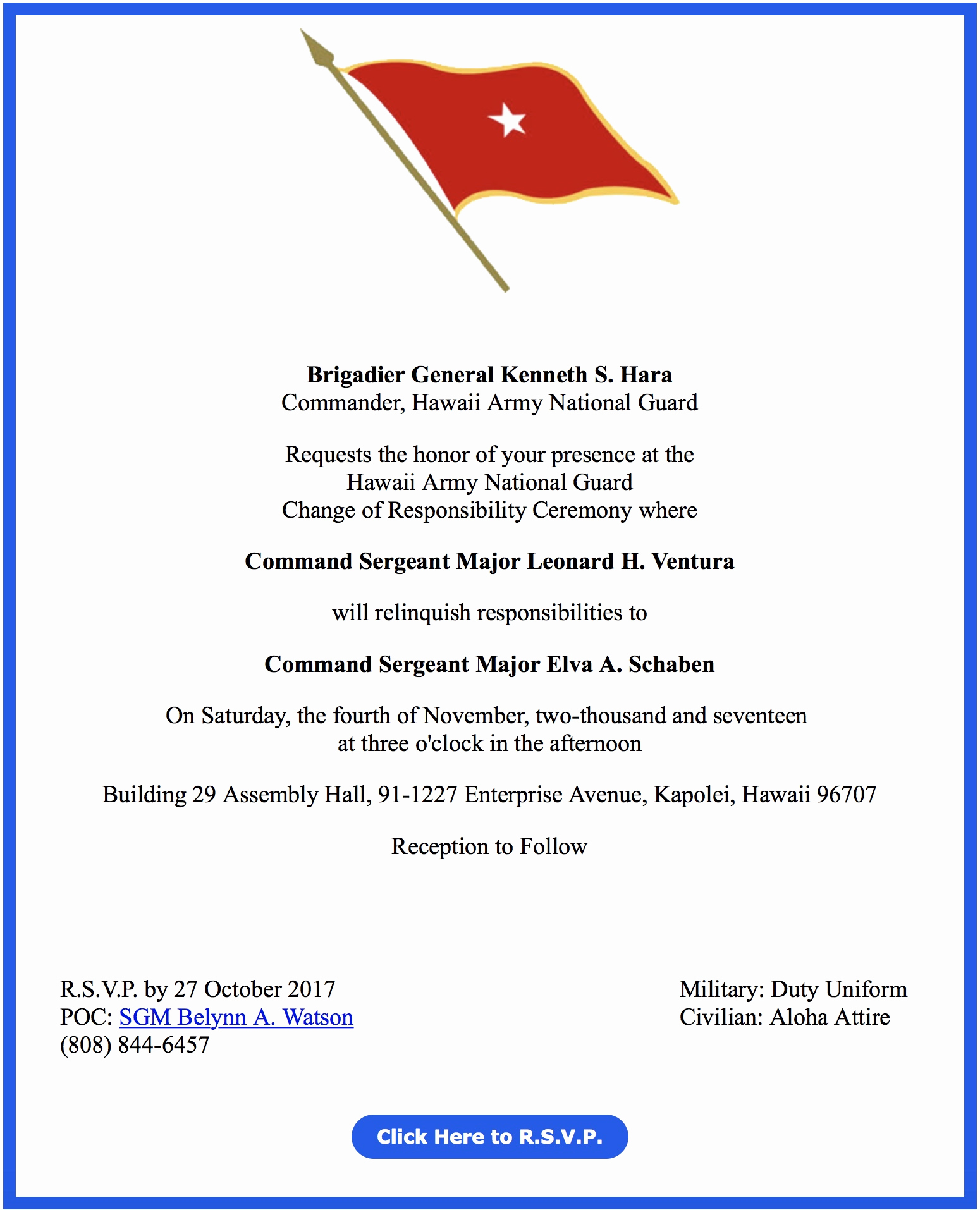 Change Of Command Invitation Inspirational Change Of Responsibility Ceremony