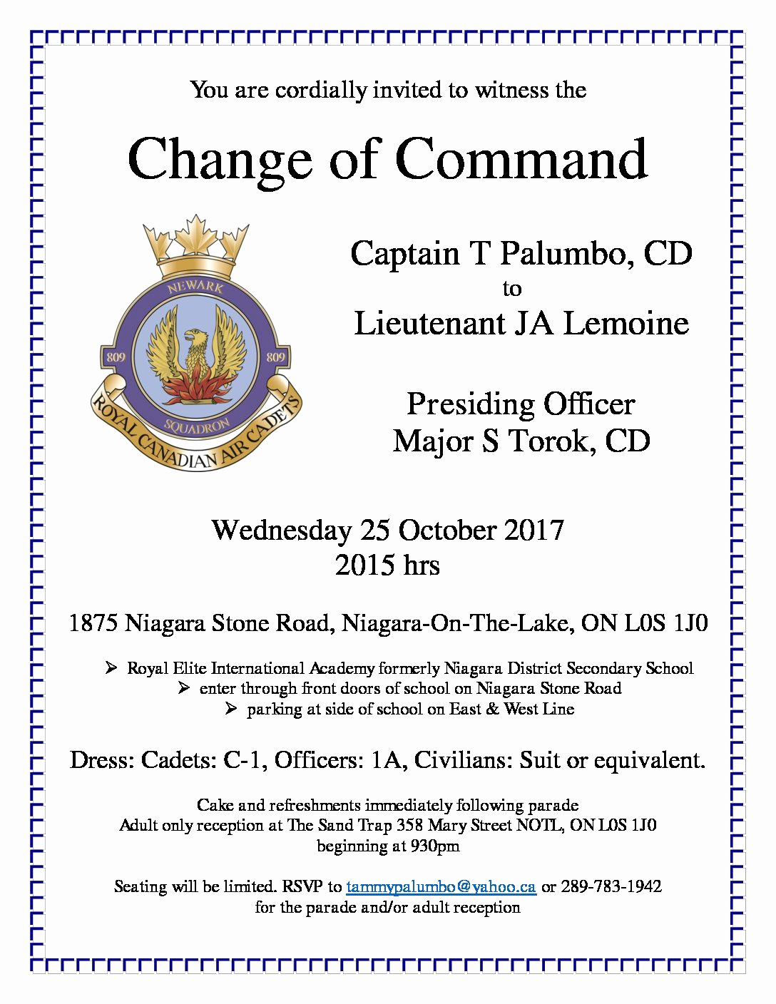 Change Of Command Invitation New Index Of Wp Content 2017 10