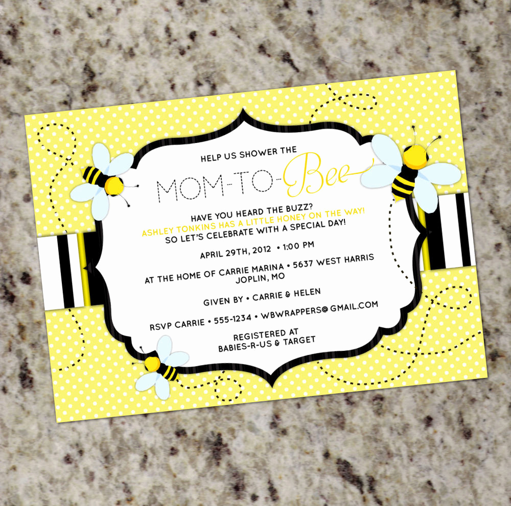 Cheap Baby Shower Invitation Lovely Mom to Bee Honey Bee themed Baby Shower Invitation