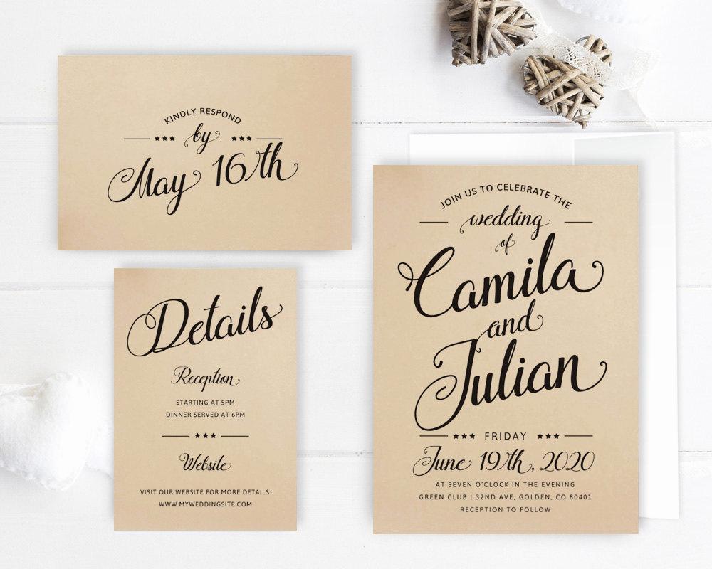 Cheap Wedding Invitation Ideas Inspirational Cheap Wedding Invitation Packages Kraft Wedding Invitation