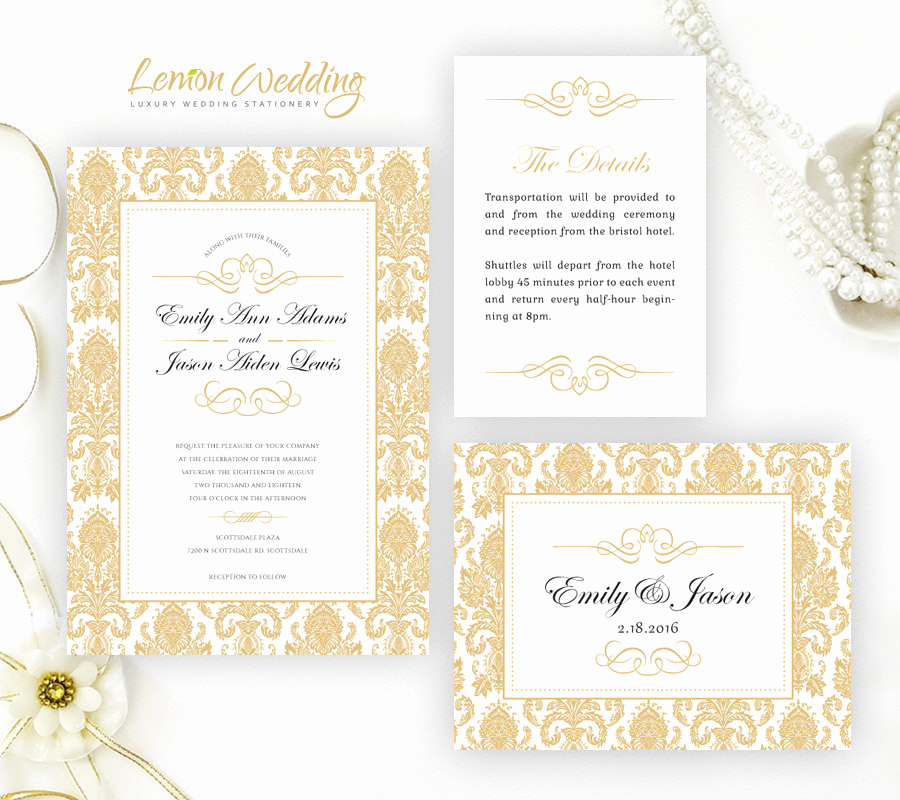 Cheap Wedding Invitation Ideas Luxury Damask Wedding Invitation Kits Cheap Wedding Invitations