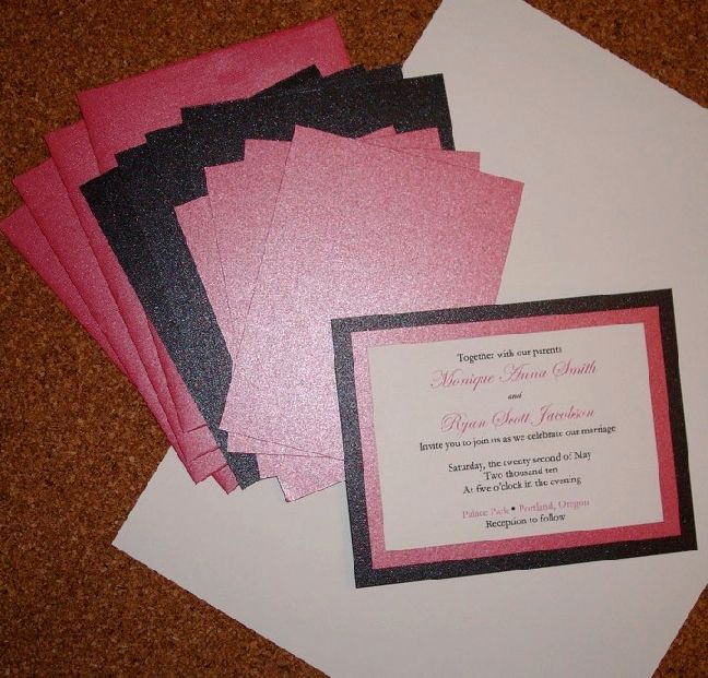 Cheap Wedding Invitation Ideas New 25 Best Ideas About Homemade Wedding Invitations On Pinterest